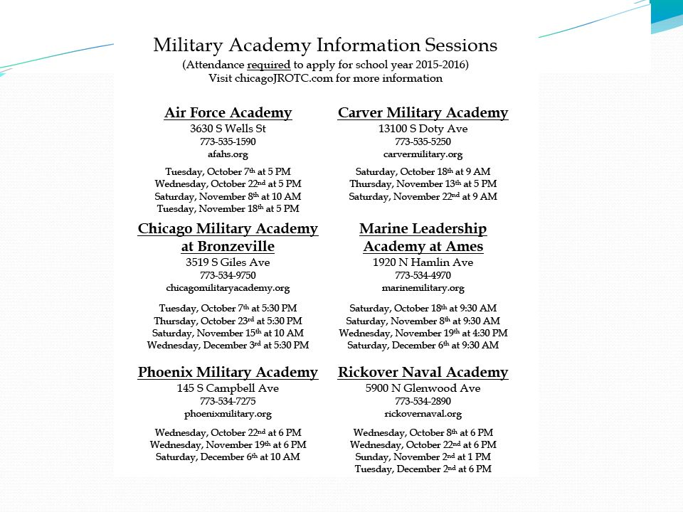 Military Information Sessions