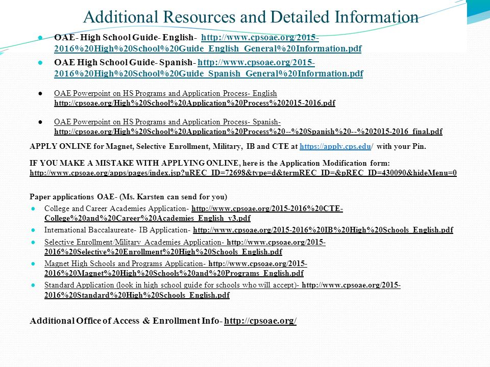 Additional Resources and Detailed Information