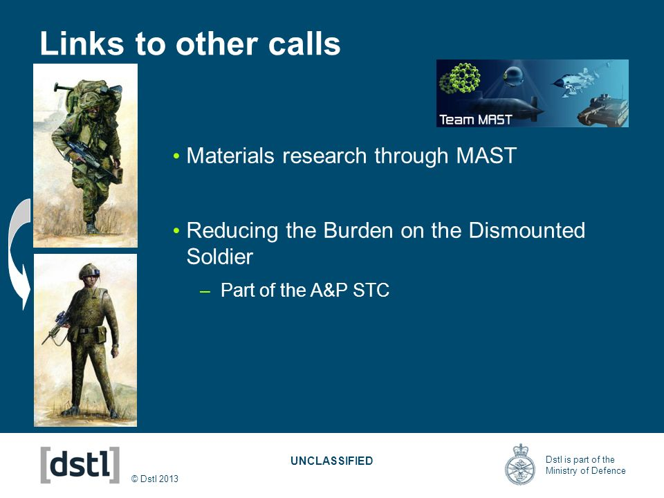 Links to other calls Materials research through MAST