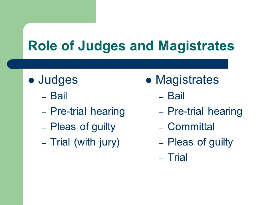 role of magistrates jury in Judges and juries the decision-makers  and magistrates from the city of london,  the role of the grand jury was to decide which cases had sufficient evidence.