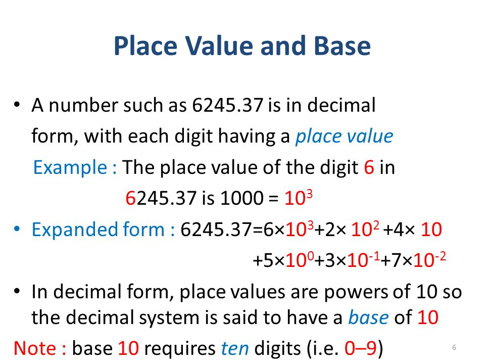 Real Numbers and the Decimal Number System - ppt video online download