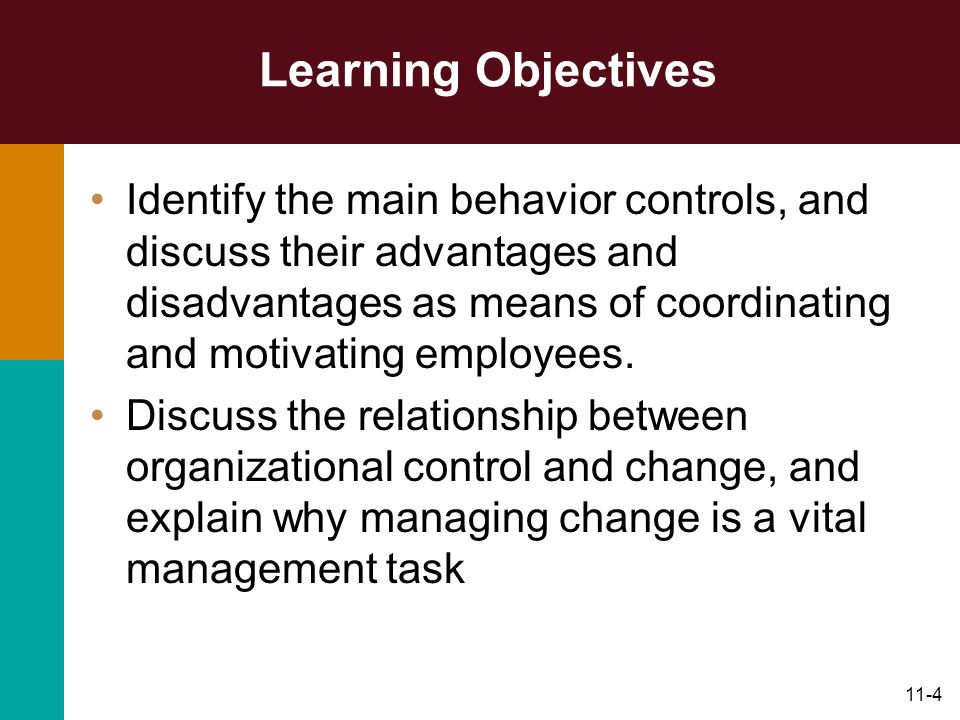 Organizational Control and Change - ppt download