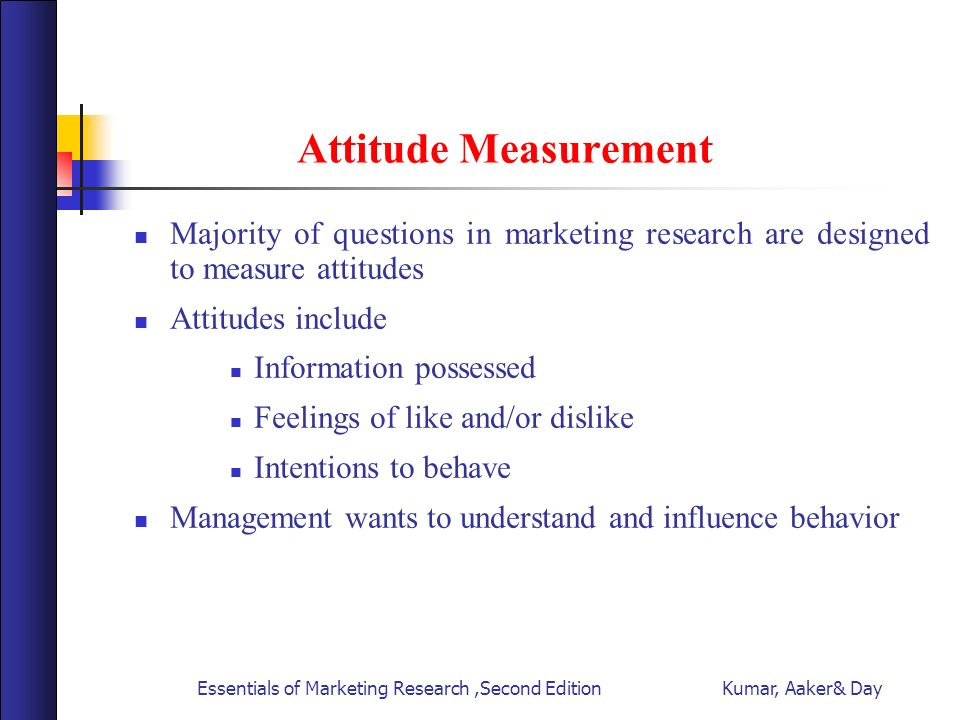 attitude measurement Attitude measurement attitudes are expressions of our covert feelings about or toward an object, person, issue, event, or behavior an attitude is.