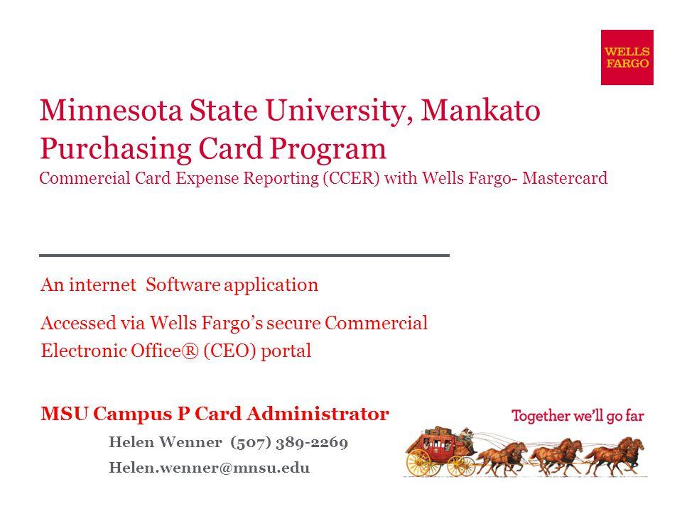 minnesota state university mankato purchasing card program