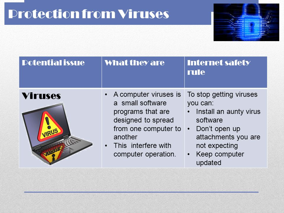 Protection from Viruses