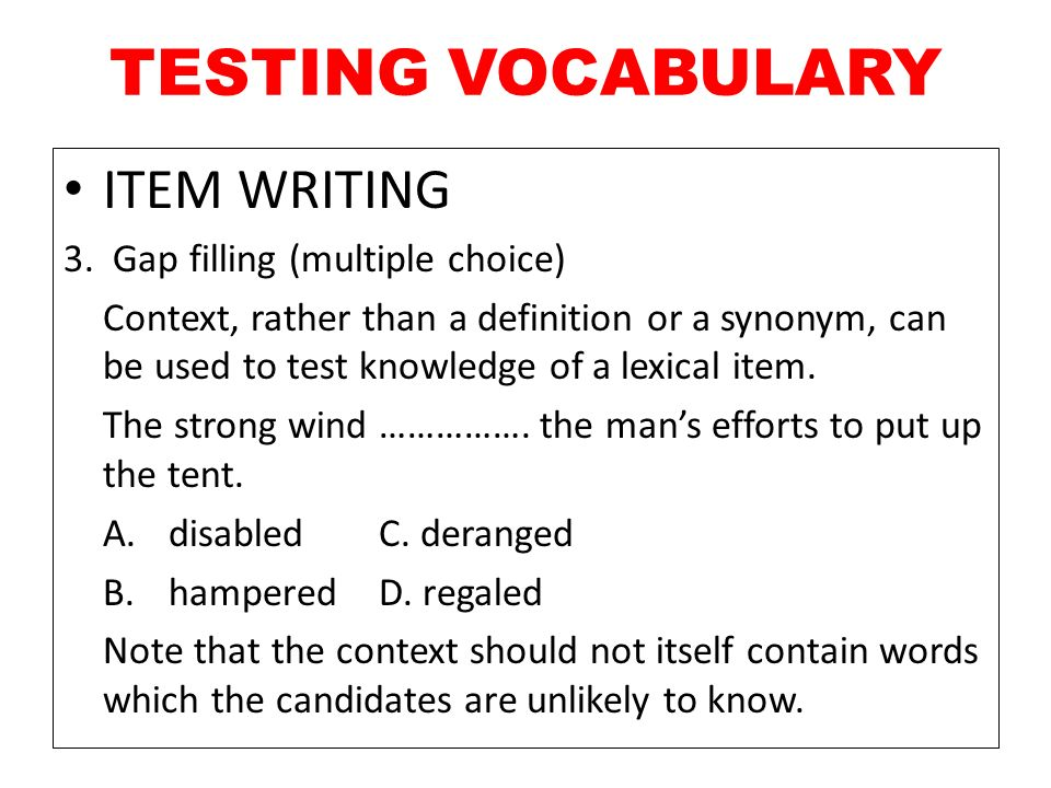 31 TESTING VOCABULARY ...  sc 1 st  SlidePlayer & CHAPTER 13 TESTING GRAMMAR AND VOCABULARY - ppt video online download
