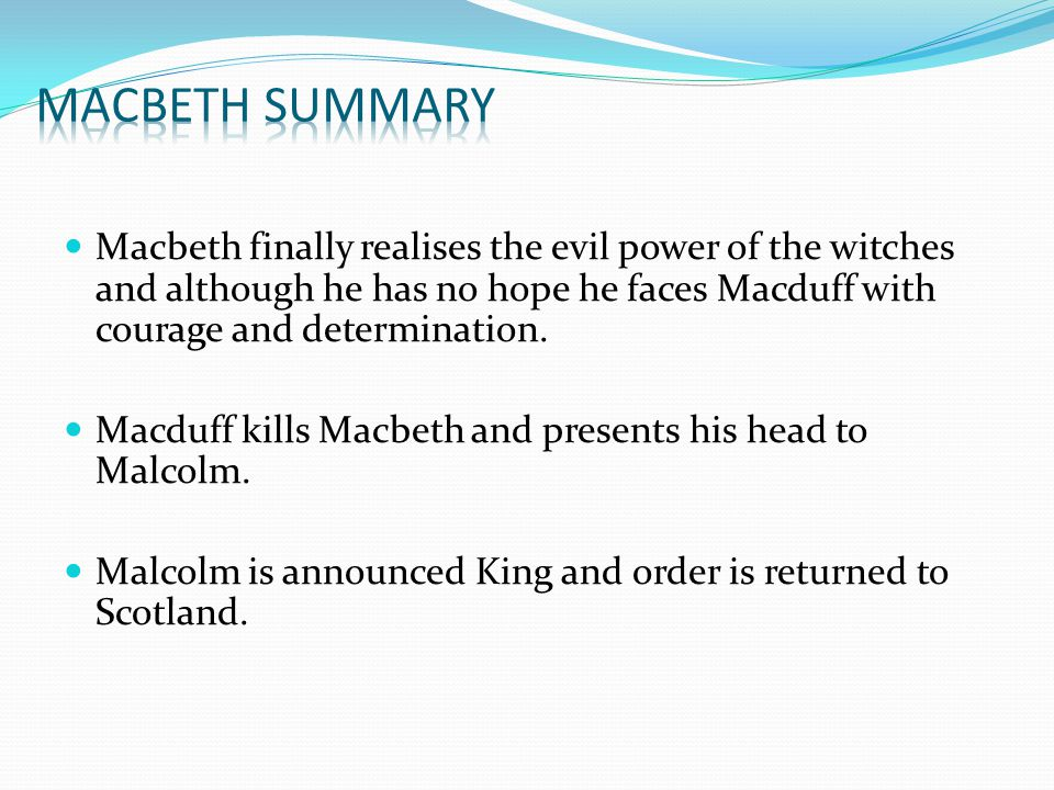 an analysis of the increase of evil power in macbeth In macbeth, events of a dark, evil, uncanny character 'cluster together' — the natural world, the supernatural world, and the human world marching to the same beat the rational mind can't fathom the occult, can't fathom synchronicity, and can't fathom macbeth.