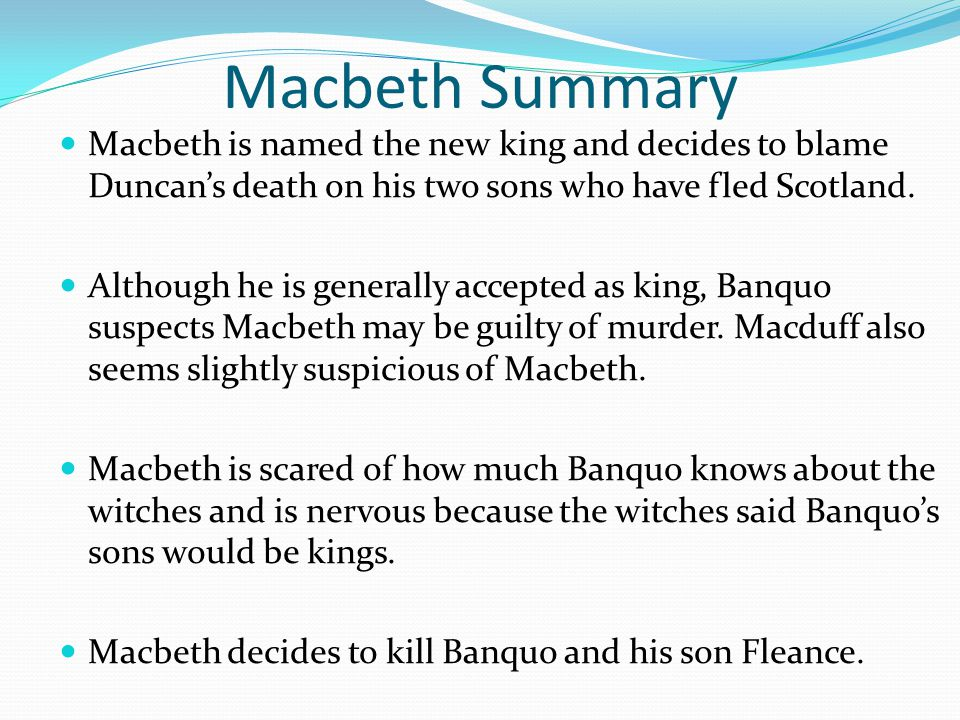who is to blame for macbeth s At the heart of william shakespeare s macbeth is an examination of the nature of  evil  lady macbeth stokes the fire, but the blame for duncan's murder rests.