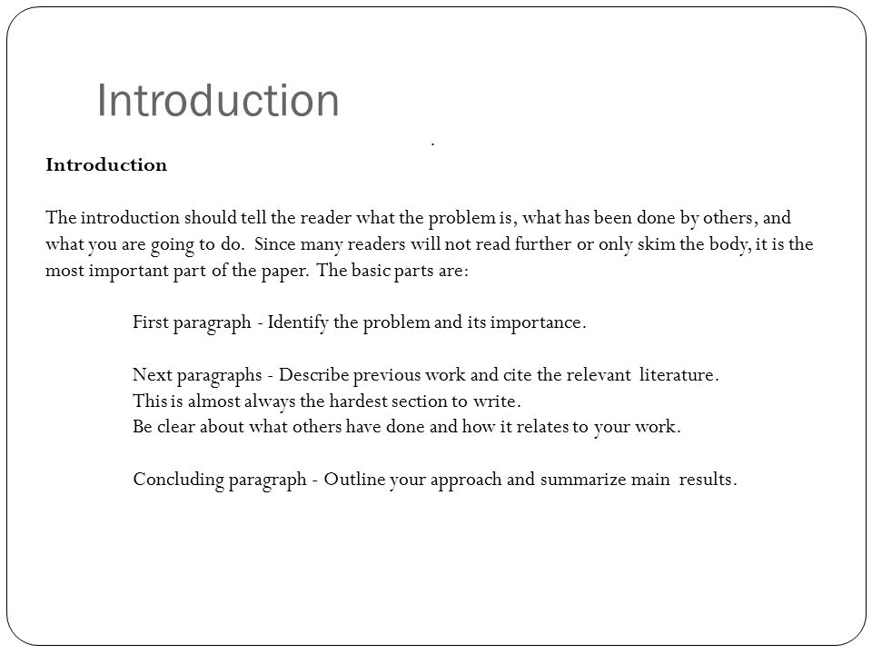 parts of introduction of term paper