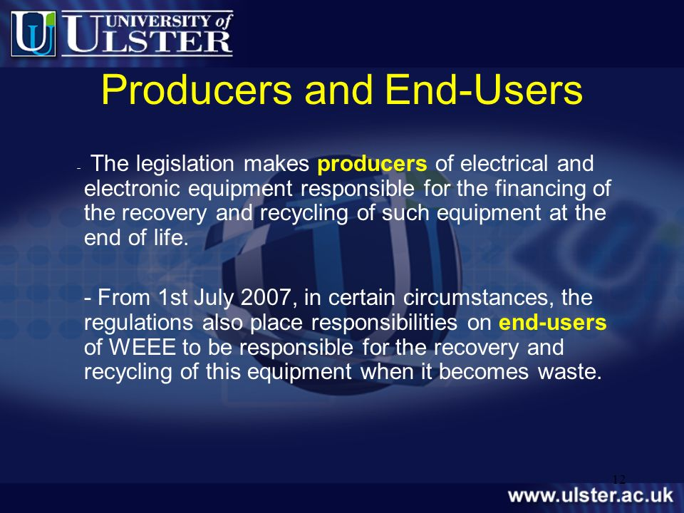 Producers and End-Users