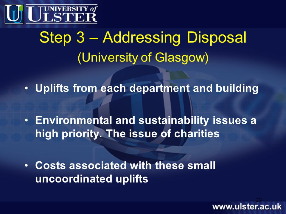 Step 3 – Addressing Disposal (University of Glasgow)