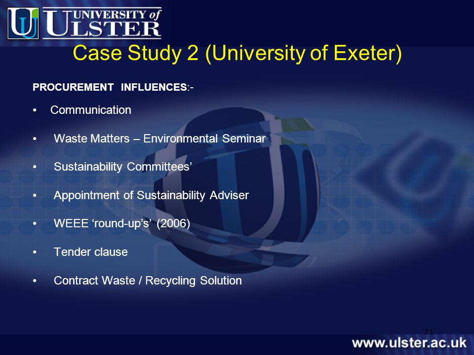 Case Study 2 (University of Exeter)