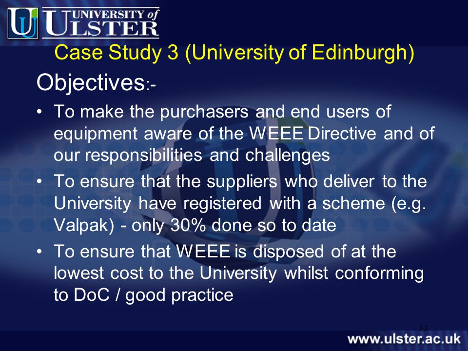 Case Study 3 (University of Edinburgh)