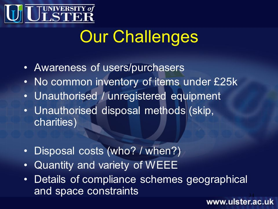 Our Challenges Awareness of users/purchasers
