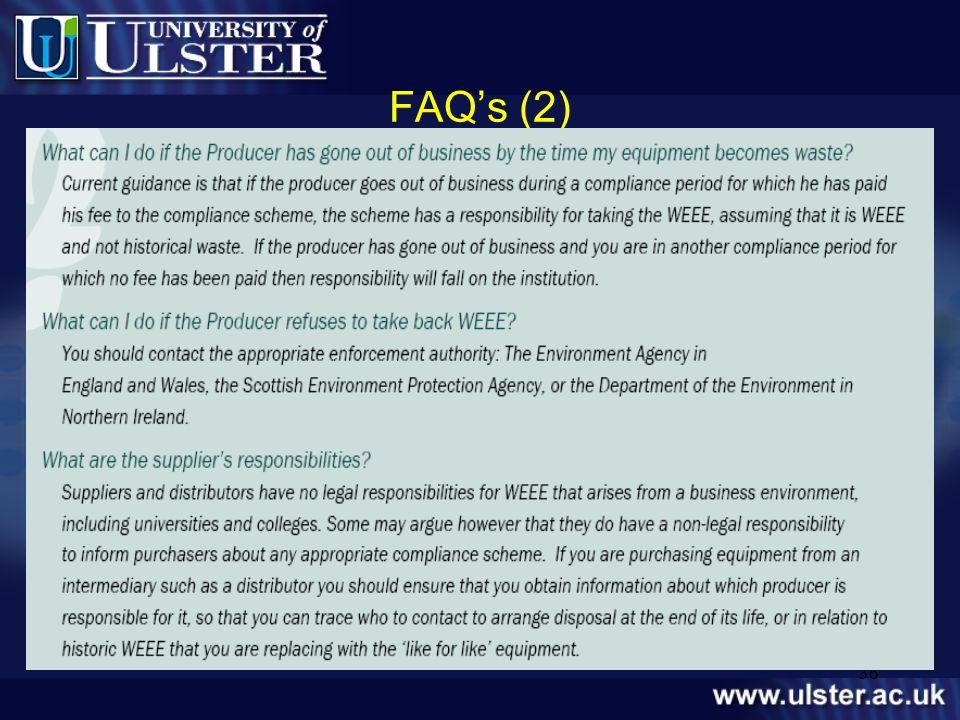 FAQ's (2) level.