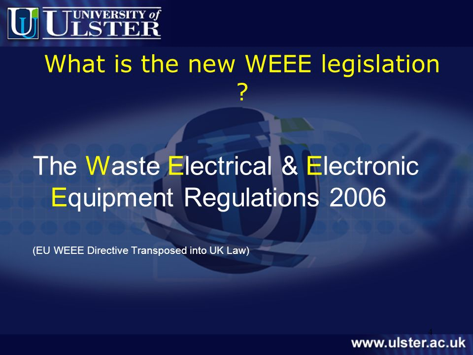 What is the new WEEE legislation