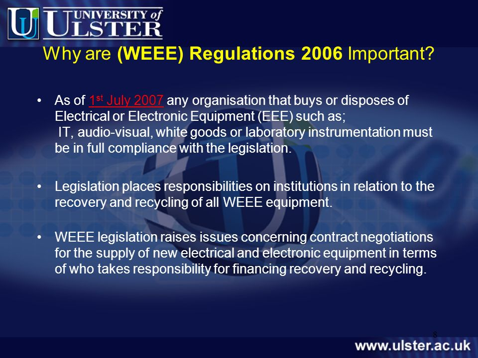 Why are (WEEE) Regulations 2006 Important