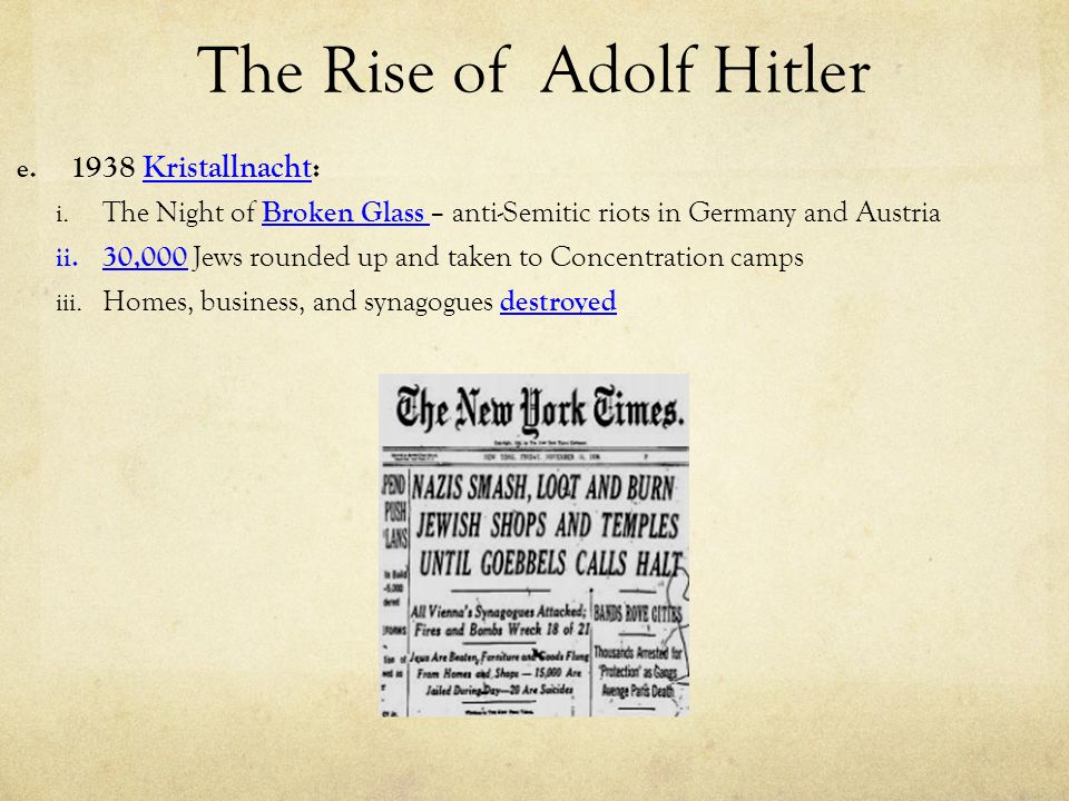 the rise of adolf hitler to power Hitler's rise from holocaust: an end to innocence by rabbi seymour rossel, a complete reference to the holocaust and echoes of the holocaust in modern times.