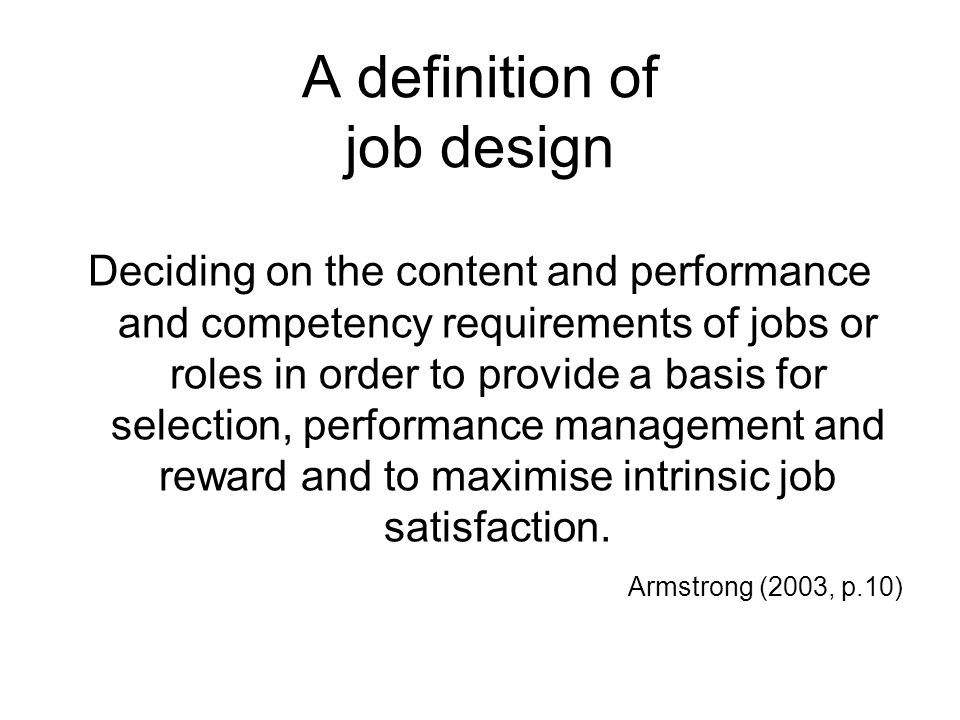 Lecture 3 designing work organising jobs and people ppt - Online design jobs work from home ...