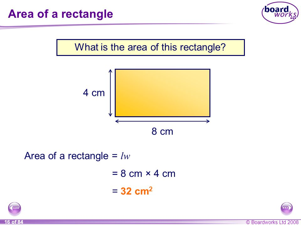 What is the area of this rectangle