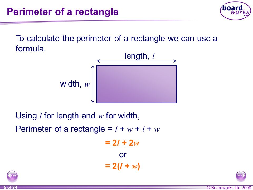 S8 perimeter area and volume ppt video online download perimeter of a rectangle ccuart Choice Image