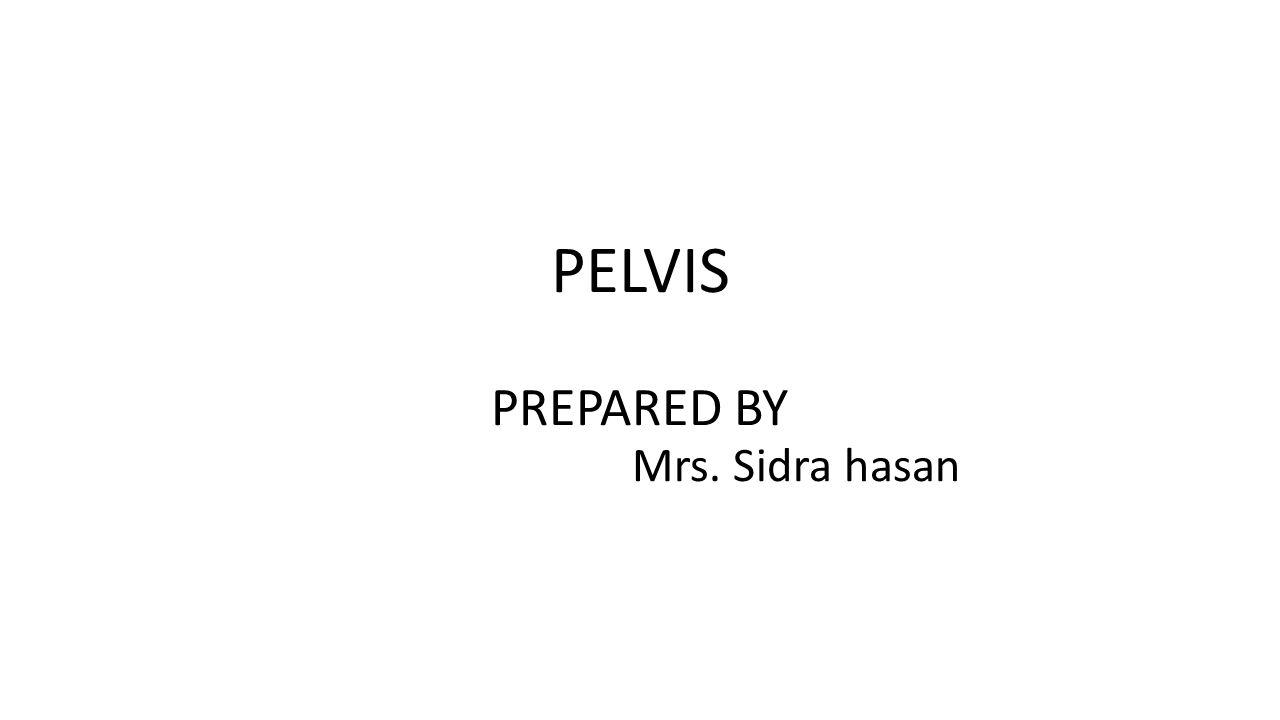 PELVIS PREPARED BY Mrs  Sidra hasan