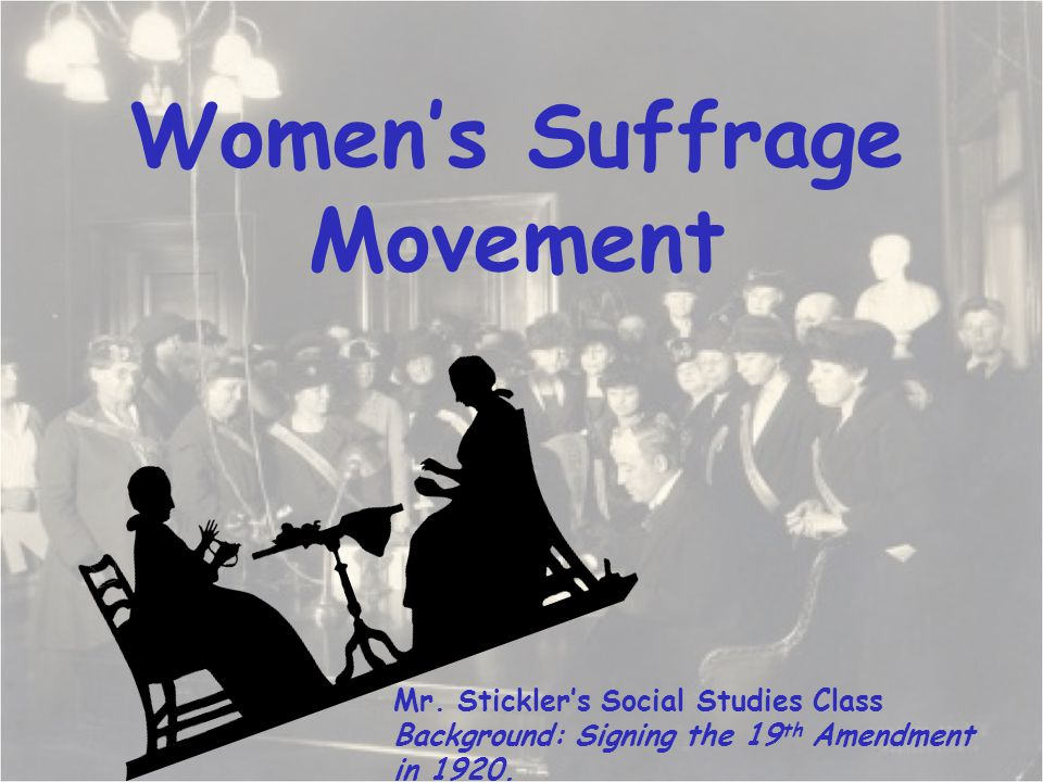 the woman suffrage movement These example sentences are selected automatically from various online news sources to reflect current usage of the word 'woman suffrage' views expressed in the examples do not represent the opinion of merriam-webster or its editors send us feedback what made you want to look up woman suffrage.