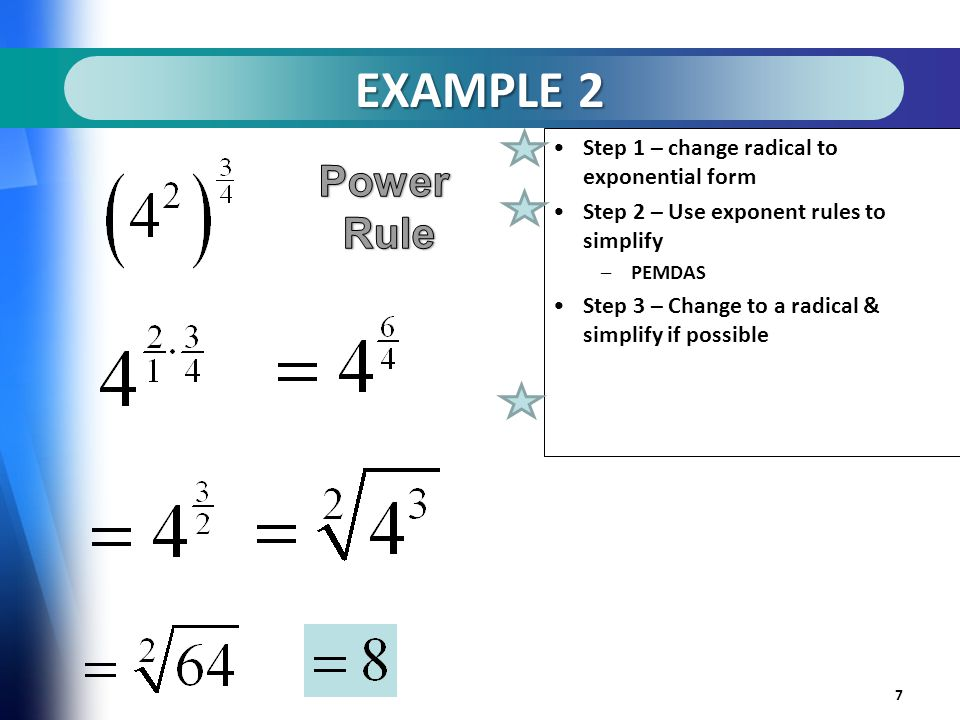 Rational Exponents a.k.a. Fractional Exponents - ppt video online ...