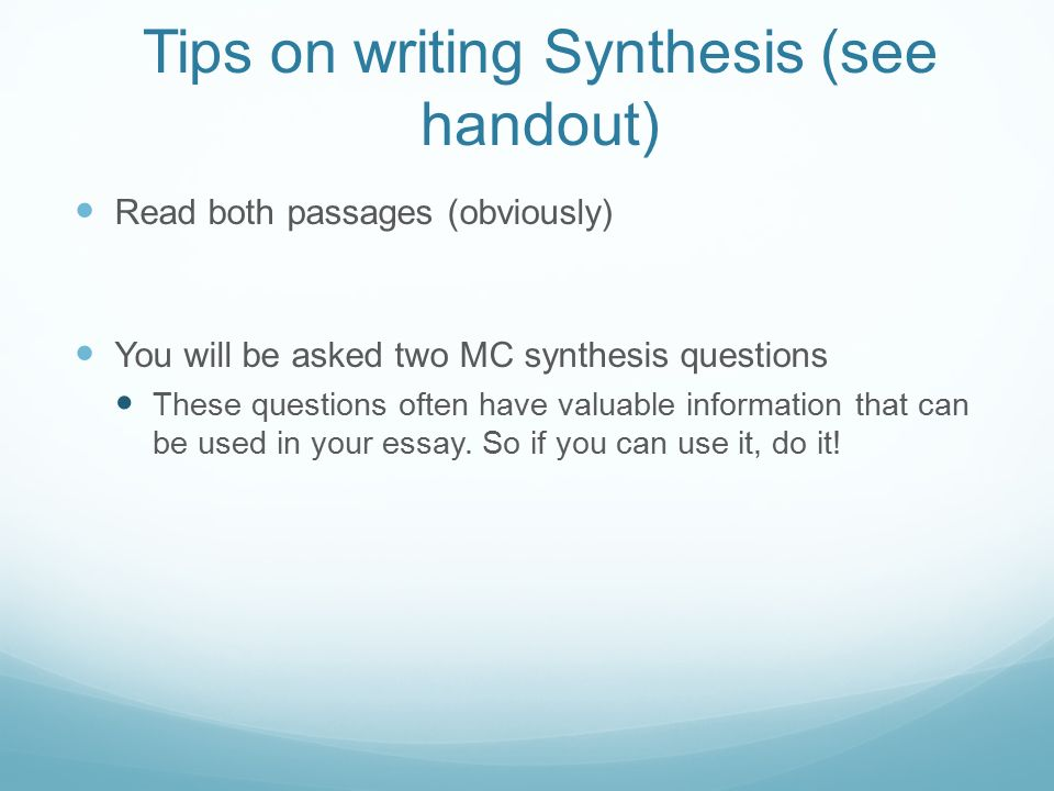 what is a synthesis essay ppt video online 5 tips on writing synthesis