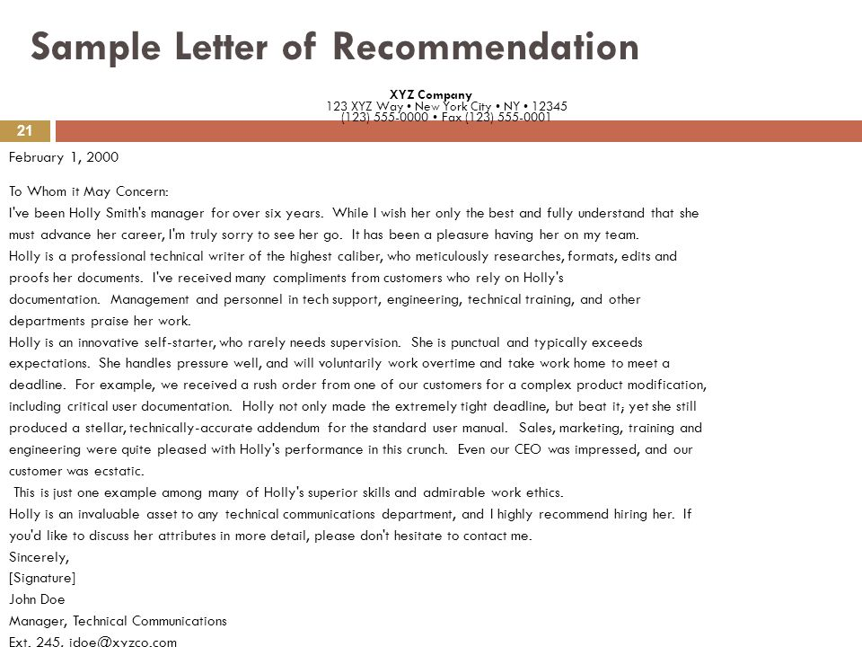 Professional Recommendation Letter Sample: SYNOPSIS Cover Letter Acceptance Letter Acknowledgment