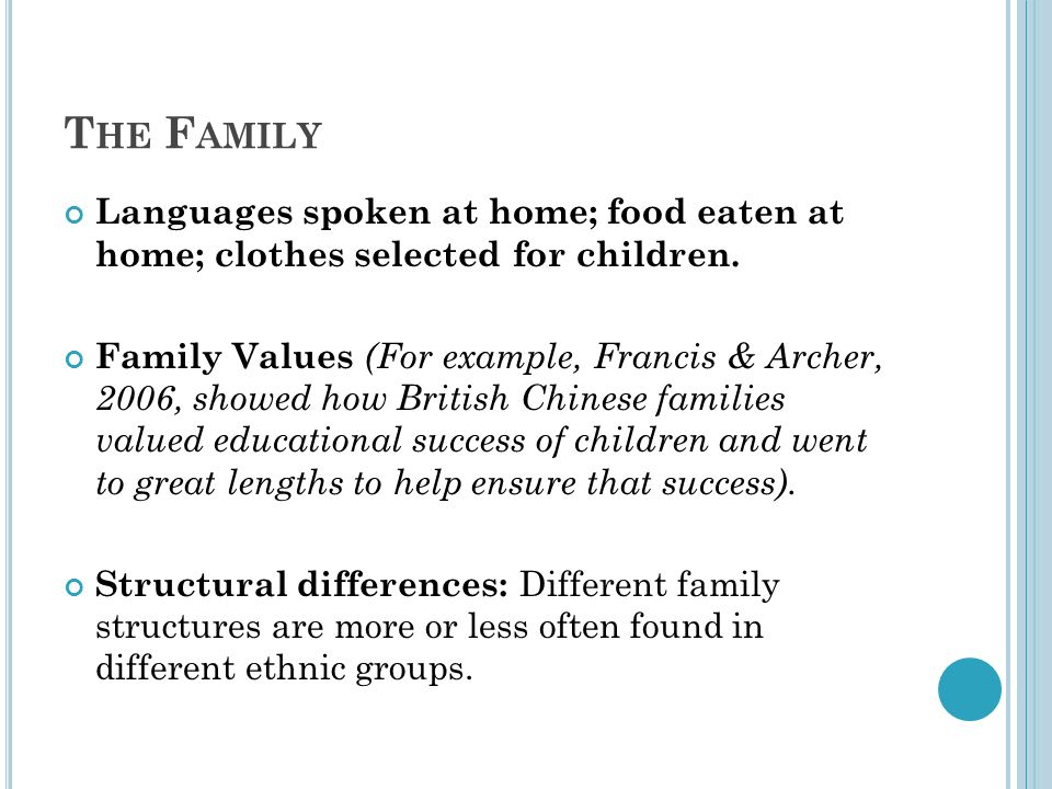 term papers family values Family values there are so many various types of people with different ethnic backgrounds, culture and manner of living that are the cause of distinct values.