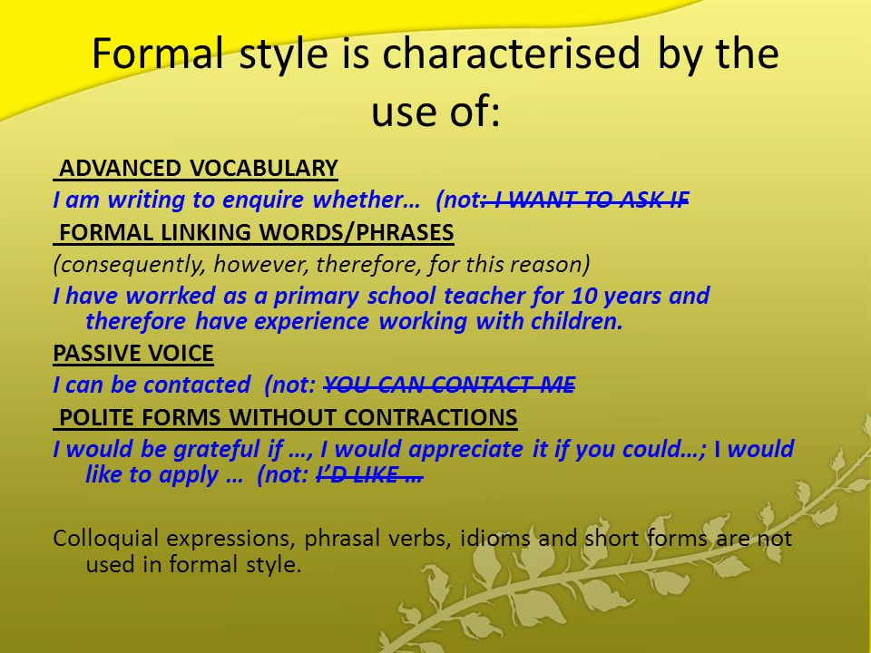 formal essay voice Tone and formality in academic writing formal and academic-sounding, try some of the suggestions below 1 avoid using you, your, etc.