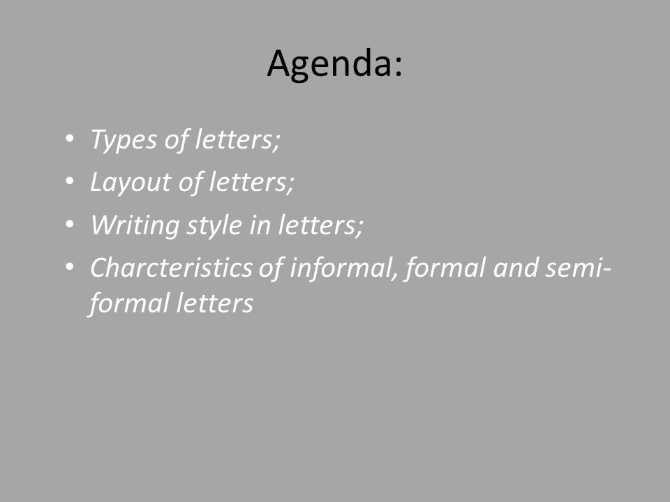 Agenda types of letters layout of letters writing style in agenda types of letters layout of letters writing style in letters altavistaventures Gallery