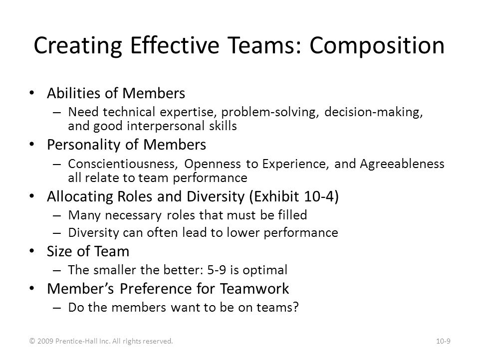 creating effective teams A practical guide for building and sustaining top-performing teams readers will   a bestseller in previous editions, creating effective teams, third edition is.