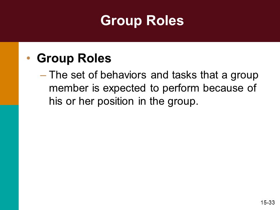 Group Roles Group Roles