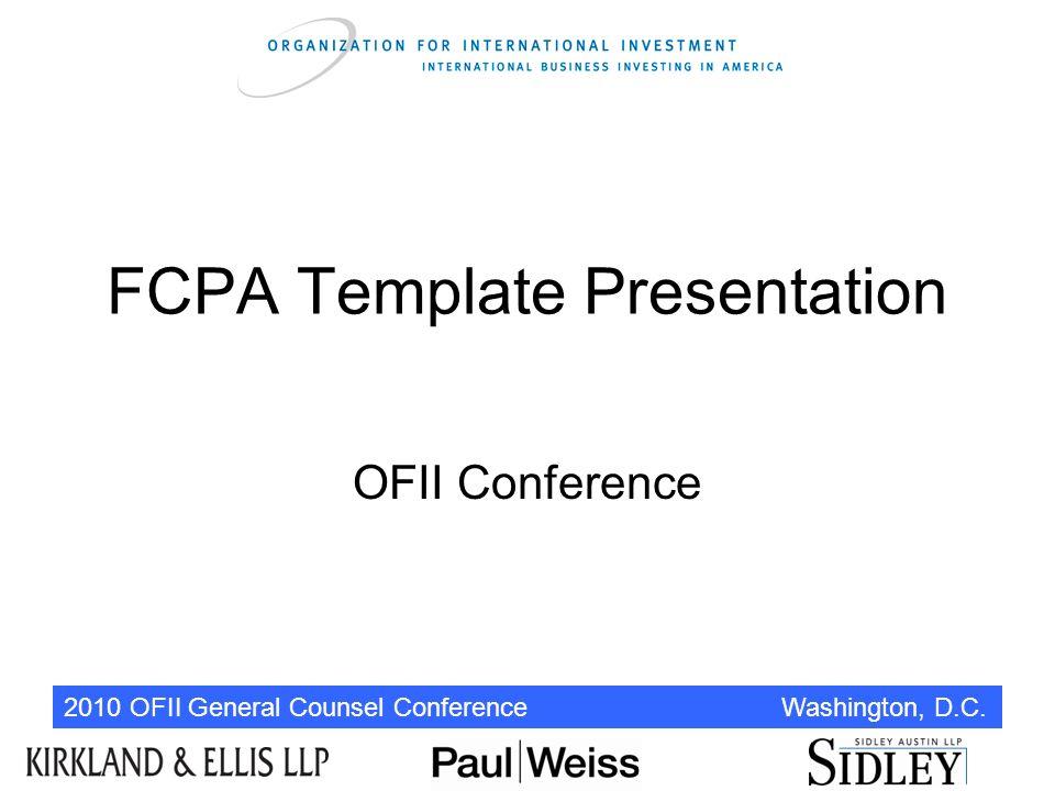 fcpa template presentation