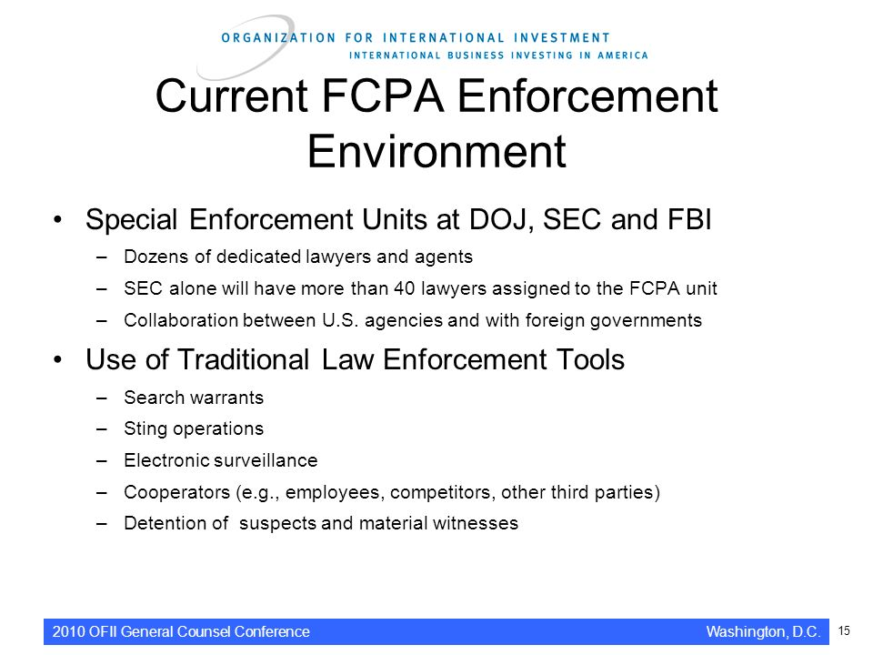 Fcpa template presentation ppt video online download for Law enforcement operations plan template