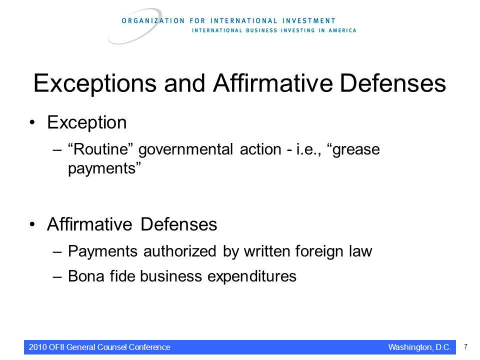 affirmative defense