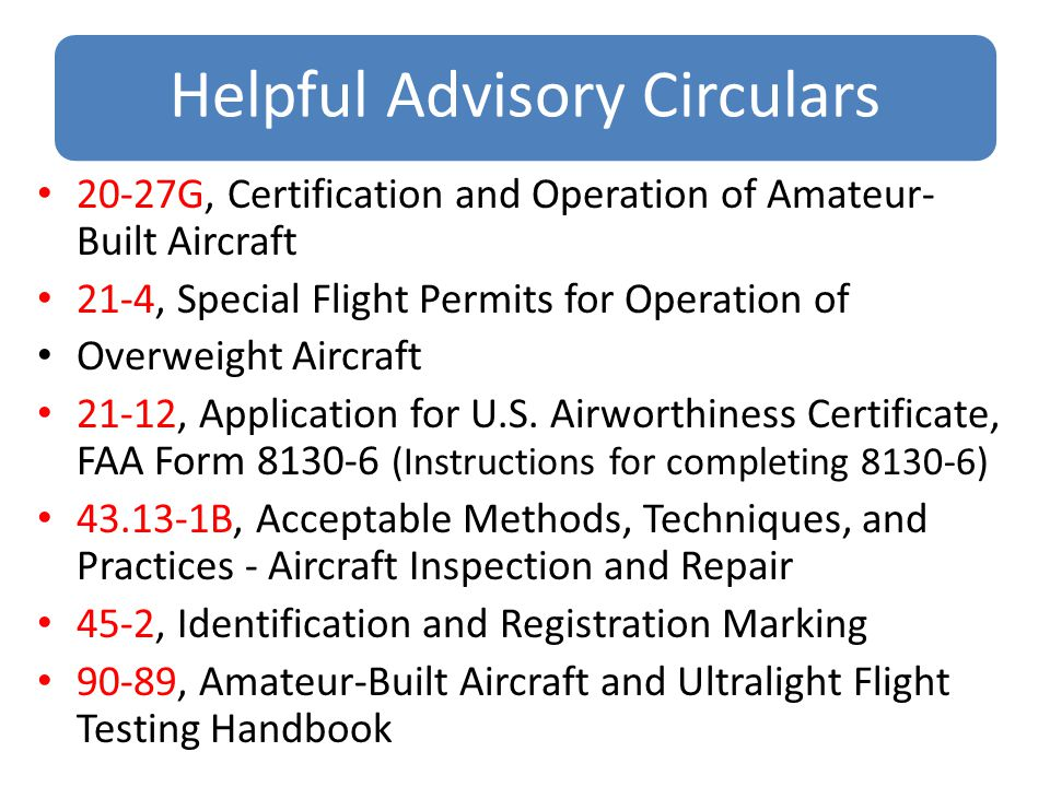 aircraft certification planning and application faa