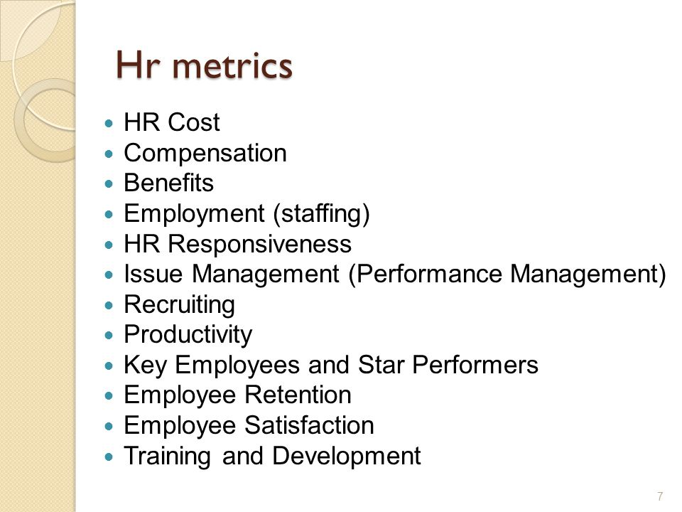 Human Resource Metrics  Ppt Download
