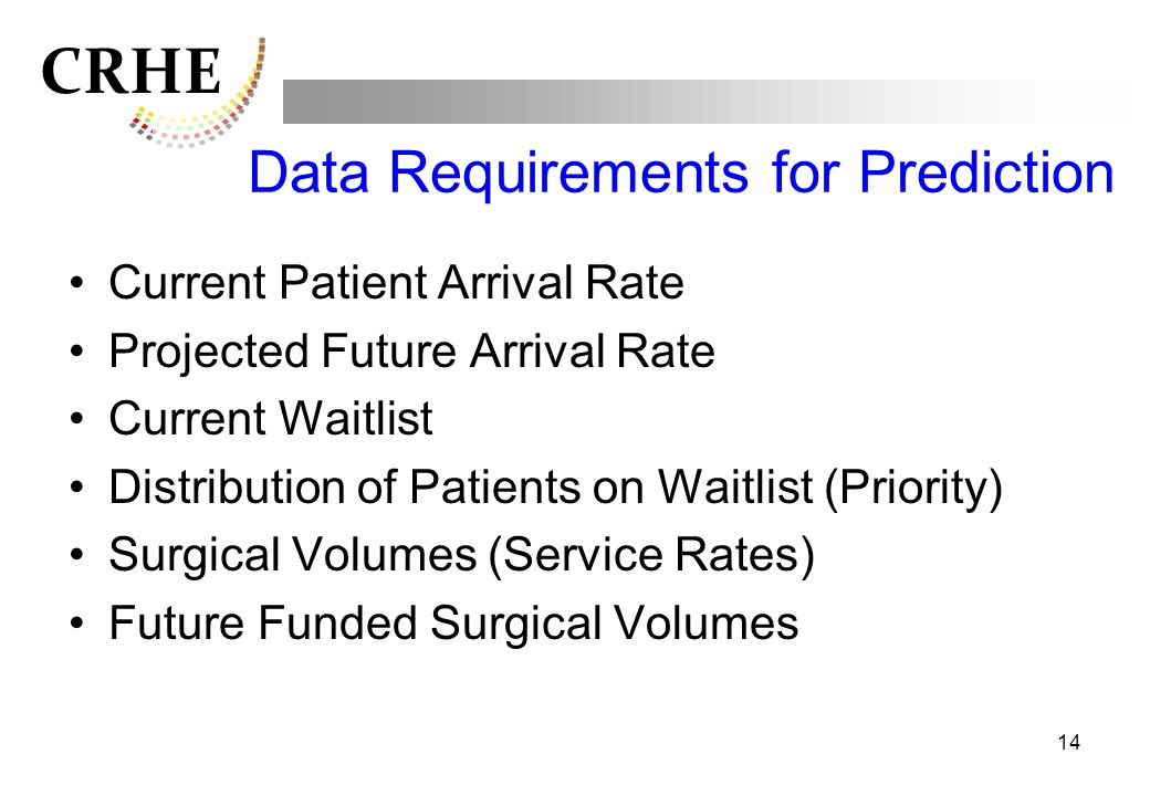 Data Requirements for Prediction
