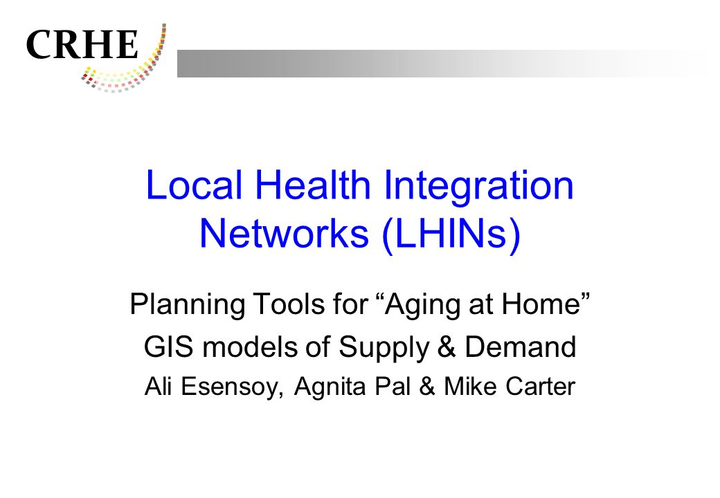 Local Health Integration Networks (LHINs)