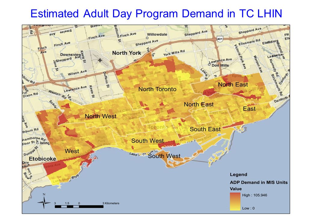 Estimated Adult Day Program Demand in TC LHIN
