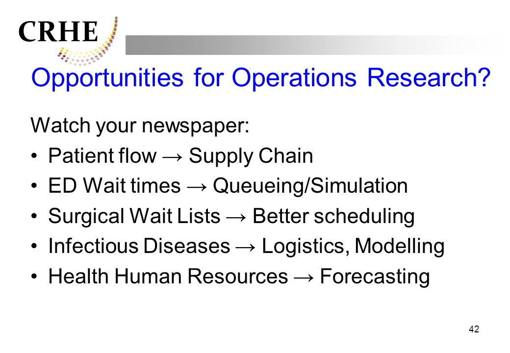 Opportunities for Operations Research