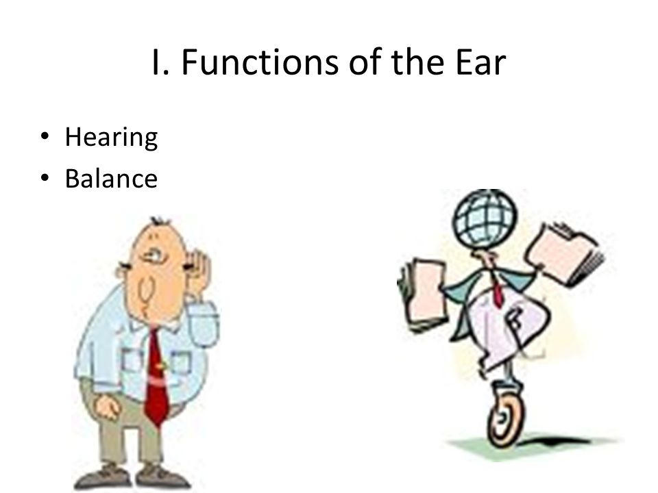 I. Functions of the Ear Hearing Balance