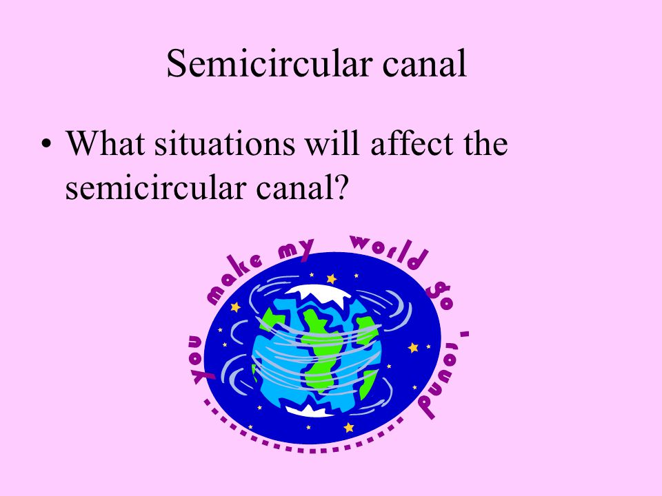 Semicircular canal What situations will affect the semicircular canal