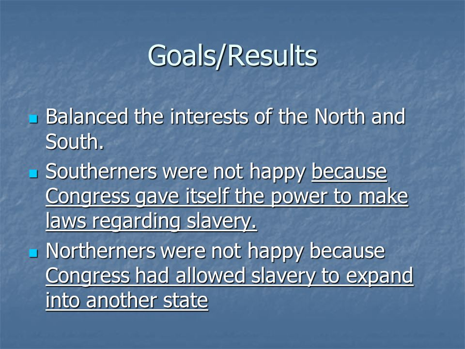 slavery in the north failed because In 1820 he had resolved a fiery debate over the spread of slavery with his missouri compromise now, thirty years later, the matter surfaced finally, there was washington, dc not only did the nation's capital allow slavery, it was home to the largest slave market in north america on january 29, 1850, the 70-year- old.