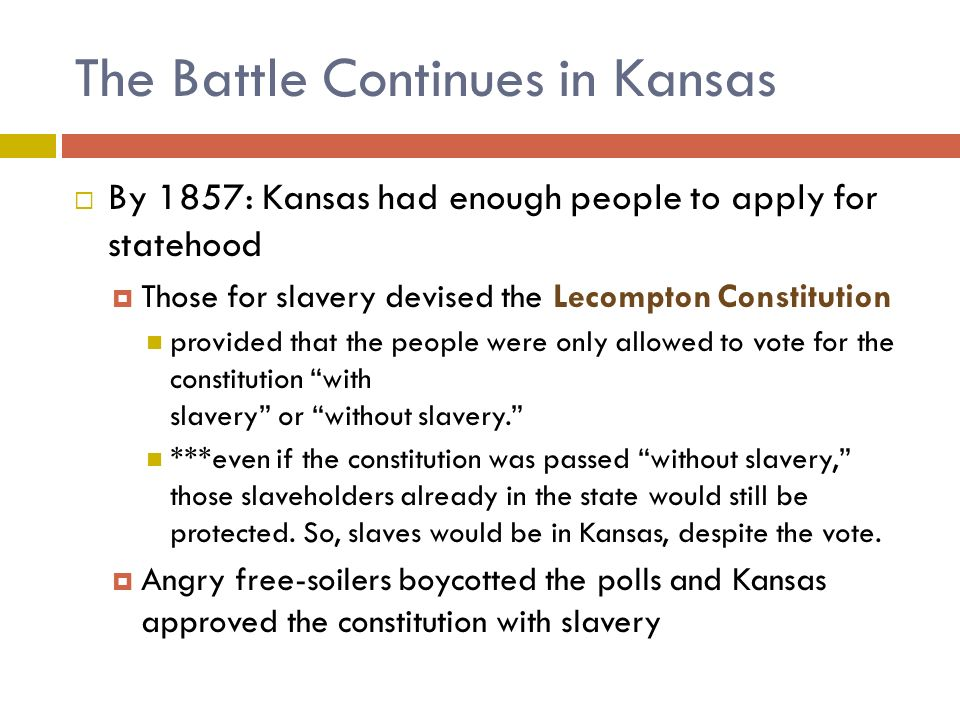 The Battle Continues in Kansas