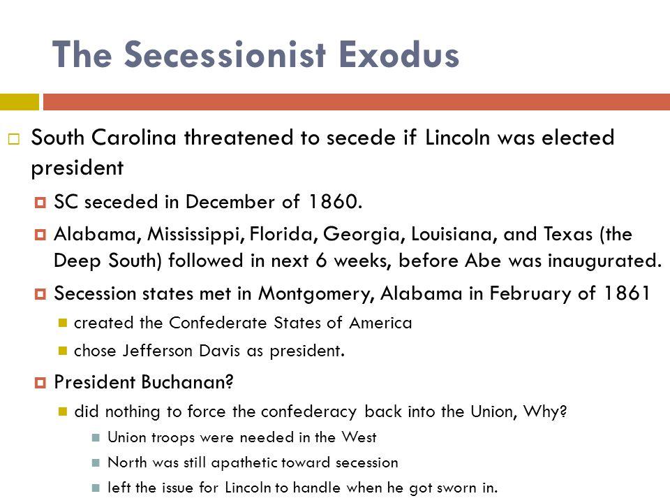The Secessionist Exodus
