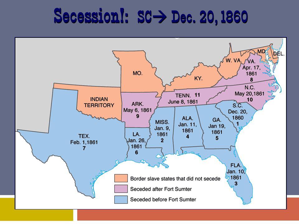 Secession!: SC Dec. 20, 1860